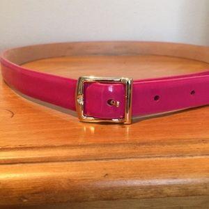 Jcrew hot pink patent leather belt